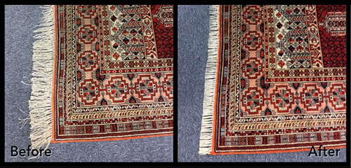 Before and After Rug Repair and Cleaning